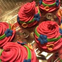 Troll birthday cupcakes